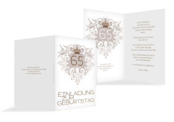 Einladungskarte Krone 65