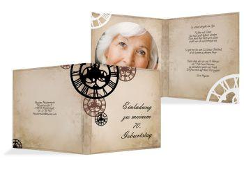 einladung 70 geburtstag - kreative designs drucken, Einladung