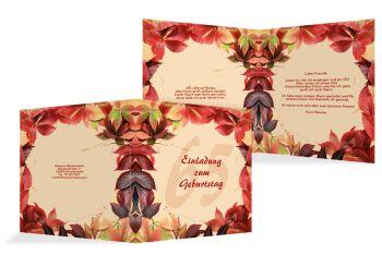 Einladungskarte Blumentraum 65