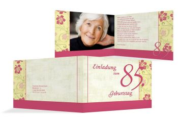 Einladung Zum 85 Geburtstag Einladungskarten Drucken