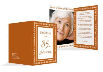 einladung zum 85. geburtstag (einladungskarten drucken), Einladung
