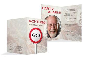 Einladung Zum 90 Geburtstag Kreative Gedruckt, Einladungsentwurf