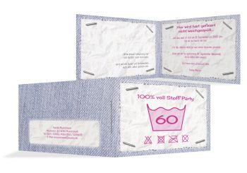 Einladungskarte Waschzettel 60