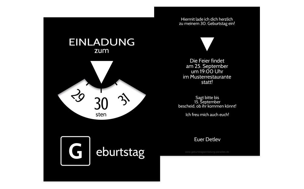 Einladung 30 Geburtstag Kreative Designs Drucken