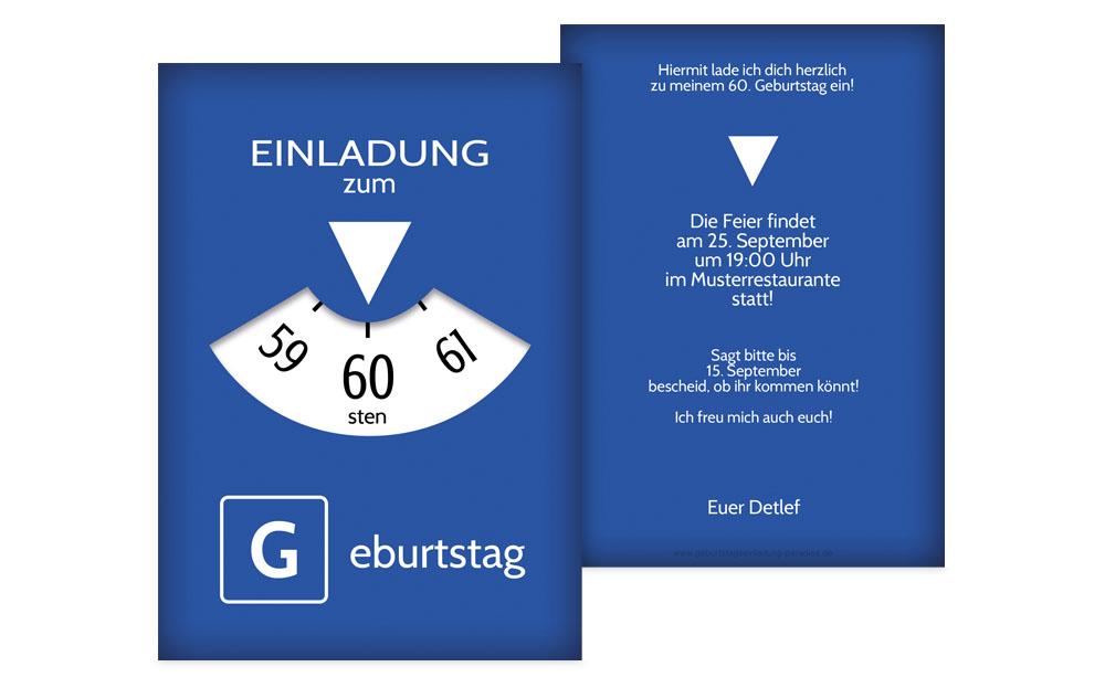 Einladungskarten 60 Geburtstag Kreative Designs Drucken