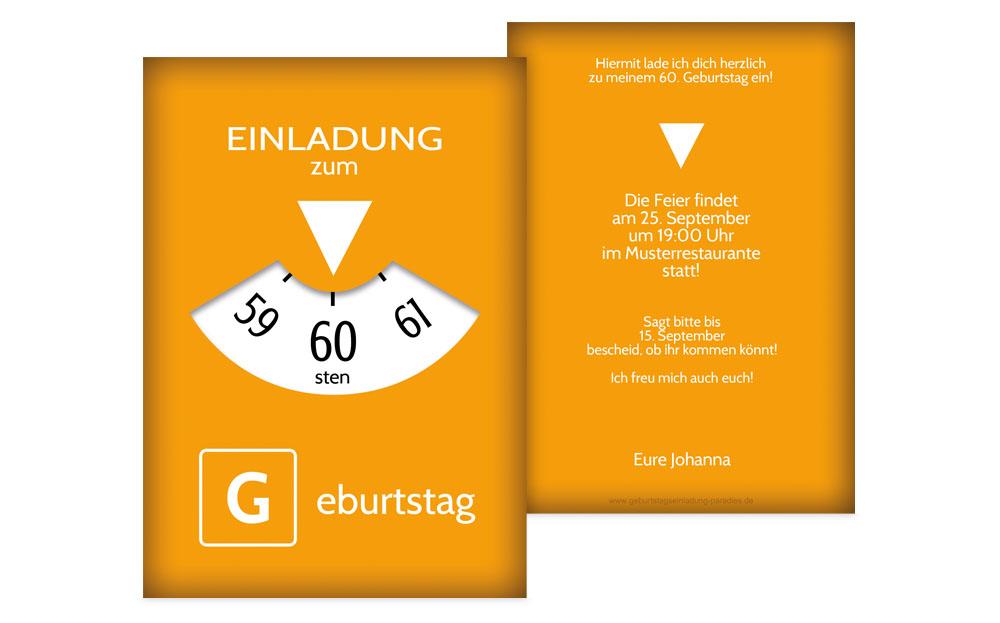 einladungskarten 60 geburtstag - kreative designs drucken, Einladungsentwurf