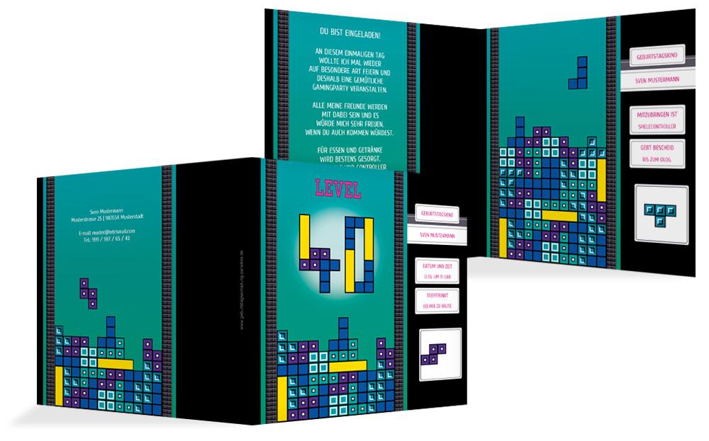 einladung 40 geburtstag - kreative designs drucken, Einladung