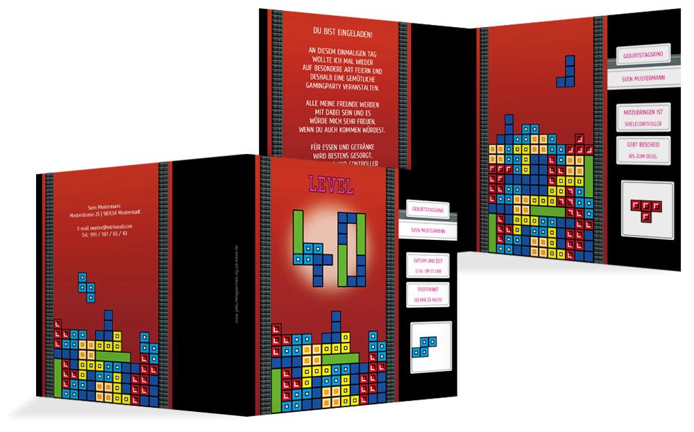 Einladung 40 Geburtstag kreative Designs drucken